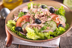 Salad with tuna and olive Stock Photos