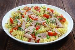 Salad with tuna and pasta Royalty Free Stock Photos