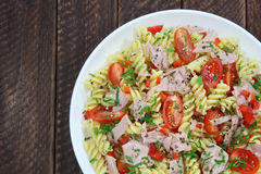 Salad with tuna and pasta Royalty Free Stock Image