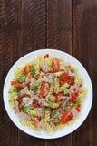 Salad with tuna and pasta Stock Photos