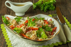 Salad with tuna and red pepper Stock Image