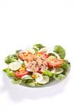 Salad tuna tomato corn and onion Stock Photos