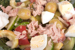 Salad of tuna with vegetables and eggs Stock Images