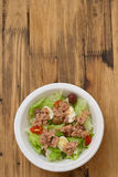 Salad with tuna on white plate Royalty Free Stock Photo