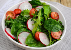Salad -turnips and rocket leaves Royalty Free Stock Photography
