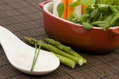Salad and tzatziki Stock Photo