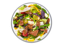 Salad with veal meat Stock Images