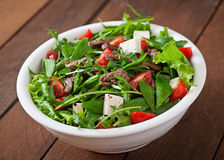 Salad with veal slices Royalty Free Stock Photography