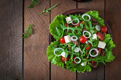 Salad with veal slices Royalty Free Stock Photos