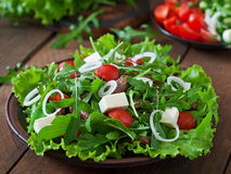 Salad with veal slices Royalty Free Stock Images