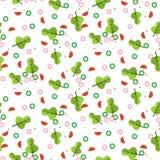 Salad vector seamless pattern. vector illustration