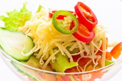 Salad vegetable cucumber, tomato, cheese and pomegranate Royalty Free Stock Photo