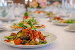 Salad with vegetable in restaurant Stock Photos