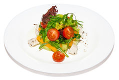 Salad vegetable with tomato and chicken Royalty Free Stock Image