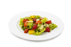 Salad. Vegetable salad  on white background Royalty Free Stock Photos