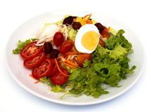 Salad. Vegetable salad in a white dish Royalty Free Stock Photo