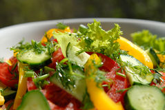 Salad from vegetables 12 Stock Photo