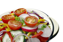 Salad with vegetables. royalty free stock image