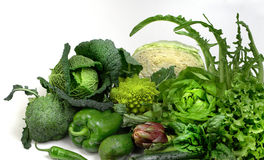 Salad and vegetables Royalty Free Stock Photography