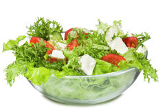 Salad with vegetables Royalty Free Stock Images