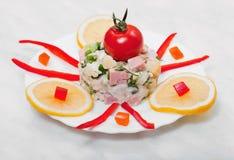 Salad of vegetables Stock Image