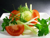 Salad of vegetables 2 Royalty Free Stock Image