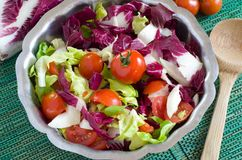 Salad vegetables. Mixed salad of fresh vegetables Stock Images
