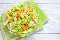 Salad of vegetables and apples Royalty Free Stock Photos