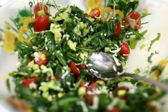 Salad with vegetables and arugula Stock Images