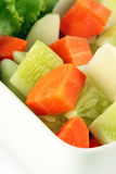 Salad vegetables on a bowl Royalty Free Stock Photos