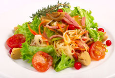 Salad with vegetables and champignon Stock Photography