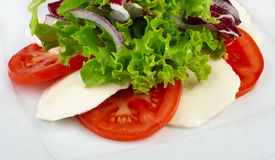 Salad with vegetables and cheese Royalty Free Stock Image