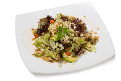 Salad with vegetables with clams Royalty Free Stock Image