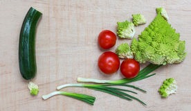 Salad Vegetables. Vegetables for a salad with copy space Royalty Free Stock Photography