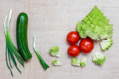 Salad Vegetables. Vegetables for a salad with copy space Stock Image