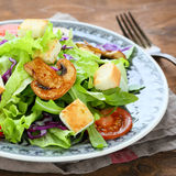Salad with vegetables and croutons Royalty Free Stock Photography
