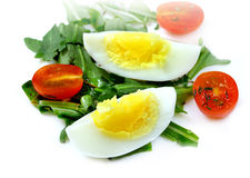 Salad of vegetables with eggs Stock Photos
