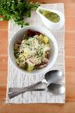 Salad with vegetables and fish Stock Photography