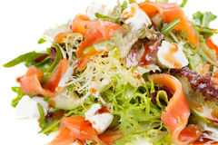 Salad with vegetables,fish and cheese. Stock Photo