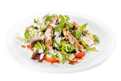 Salad with vegetables and fish Royalty Free Stock Images