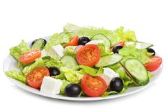 Salad with vegetables and greens Royalty Free Stock Photo