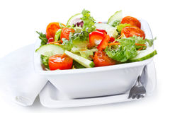 Salad with vegetables and greens Royalty Free Stock Images