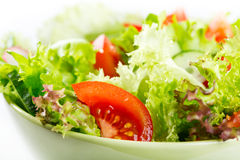Salad with vegetables and greens Royalty Free Stock Image
