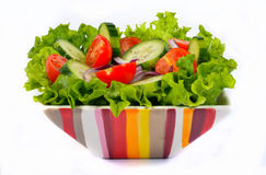 Salad with vegetables and greens Royalty Free Stock Photography