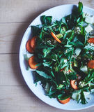 Salad from vegetables and greens Stock Images