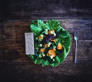 Salad from vegetables and greens Stock Photo