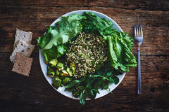Salad from vegetables and greens Royalty Free Stock Image