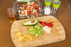 Salad vegetables and ingredients Stock Photo