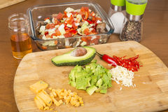 Salad vegetables and ingredients Stock Images