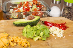 Salad vegetables and ingredients Stock Image
